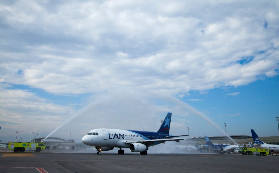 LATAM Airlines Ecuador's inaugural flight to Buenos Aires from the Quito Mariscal Sucre International Airport