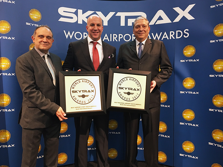 For a second consecutive year the Mariscal Sucre Airport  is the Best Regional Airport in South America