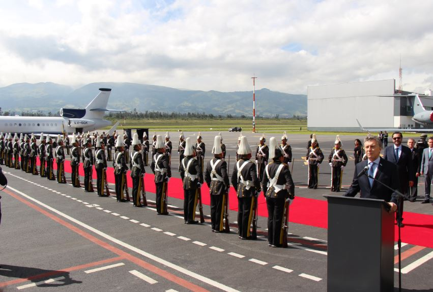 Successful Operation Conducted at the Quito International Airport to Welcome Official Delegations That Arrived in Ecuador to Attend the Presidential Inauguration Ceremony