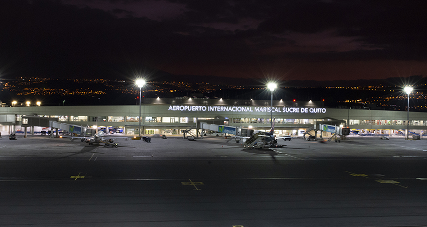 Quito Airport is the first in Ecuador to be certified for ILS Category II operations in low visibility.