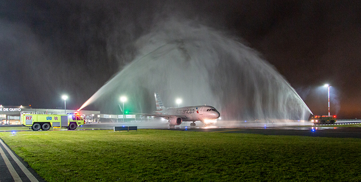 Mariscal Sucre Airport ends a great year for connectivity with the inaugural flight on the Dallas Fort Worth - Quito route