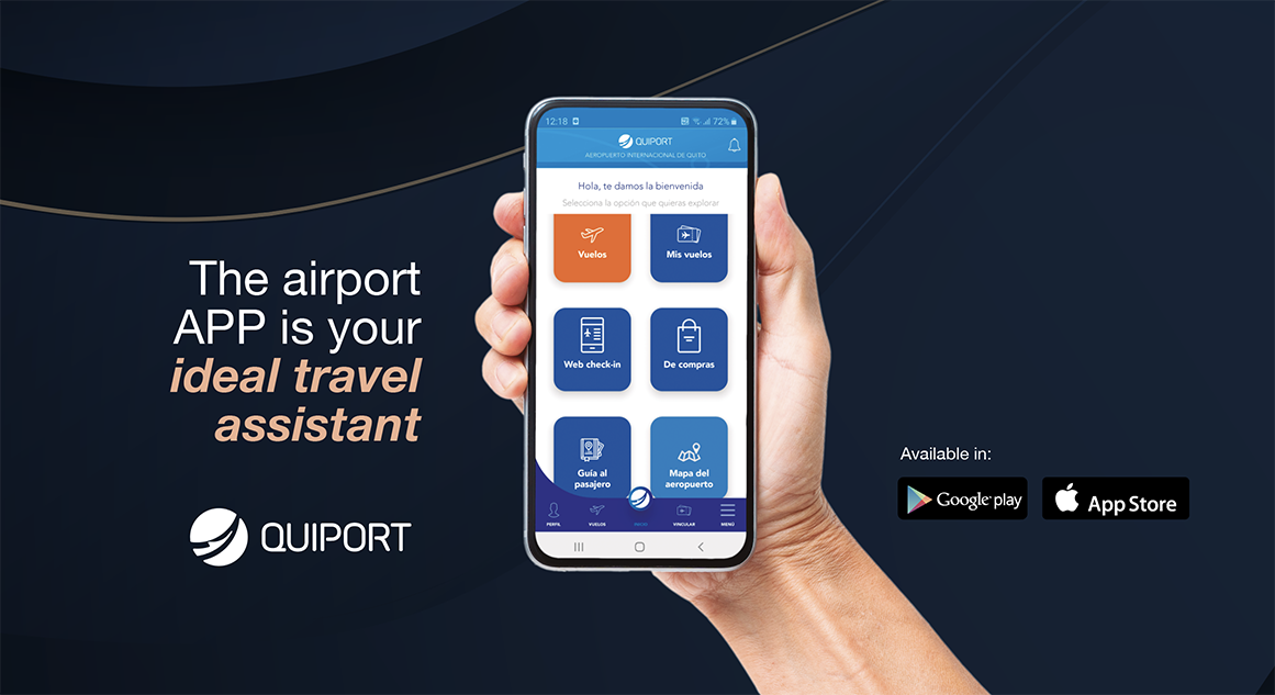 Quito Airport presents its new smartphone app