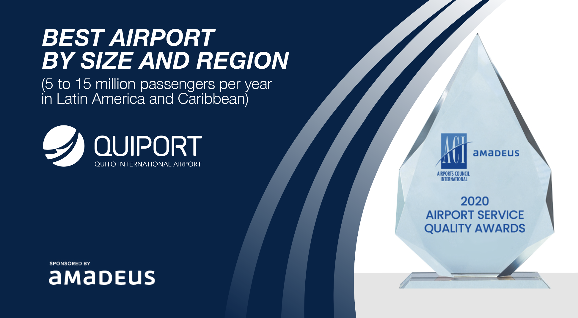 Airports Council International recognizes the Quito airport as the best in Latin America and the Caribbean